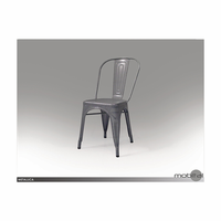 Metallica Perforated Metal Dining Chair - Set of 4