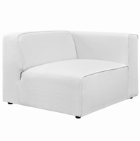 Mingle Fabric Armchair, White [FREE SHIPPING]