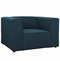 Mingle Upholstered Fabric Armchair, Blue [FREE SHIPPING]