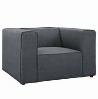 Mingle Upholstered Fabric Armchair, Gray [FREE SHIPPING]