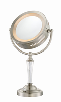 Mirror Table Lamp, Brushed Nickel, E12 Type C 7w (8x)