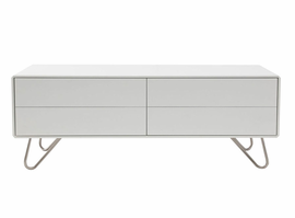 "Modloft 3349003 Johan 47""W White Lacquer TV Cabinet"