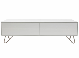 "Modloft 3359002 Johan 59""W White Lacquer TV Cabinet"