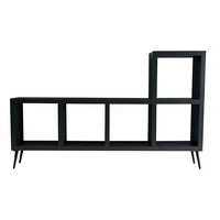 "Modloft 5399001 Villads 63""W Charcoal Gray Lacque TV Cabinet"