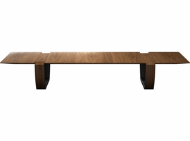 Modloft Addington Coffee Table in Walnut on Graphite