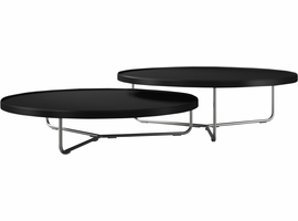 Modloft Adelphi Nested Coffee Tables in Black Leather