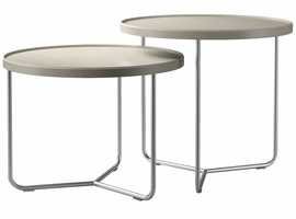 Modloft Adelphi Nesting Side Tables in Beige