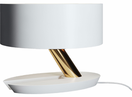 Modloft Albion Table Lamp in Mont Blanc and Brass