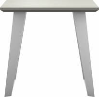 Modloft Amsterdam Side Table in White Sand Concrete