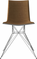 Modloft Audley Dining Chair in Amber Gold on Glossy White