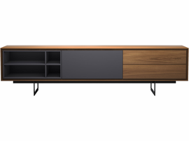 Modloft Baxter Media Cabinet in Walnut and Asphalt