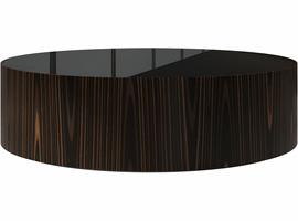 Modloft Berkeley Coffee Table in Black Glass on Cathedral Ebony