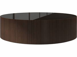 Modloft Berkeley Coffee Table in Brown Glass on Rovere Grigio