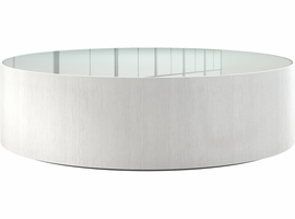 Modloft Berkeley Coffee Table in White Glass on White Oak