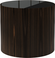 Modloft Berkeley Side Table in Black Glass