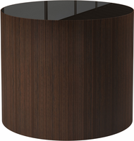 Modloft Berkeley Side Table in Brown Glass
