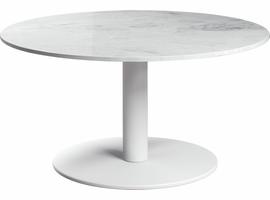 Modloft Bleecker High Coffee Table in White Marble