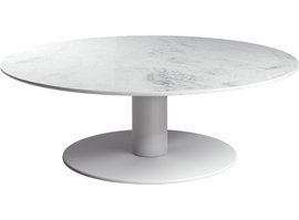 Modloft Bleecker Low Coffee Table in White Marble