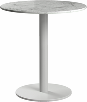 Modloft Bleecker Side Table in White Marble