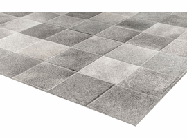 Modloft Block Hide Rug 9' x 12' in Gray Mix Hide