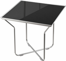 Modloft Cale Side Table in Black Glass