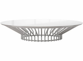 Modloft Carlisle Coffee Table in Glossy White on White