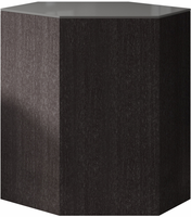 Modloft Centre 18in. Occasional Table in Cool Gray Glass on Gray Oak