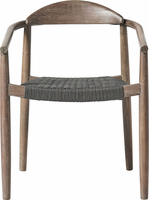 Modloft Classica Dining Chair in Dark Gray Cord and Distressed Eucalyptus