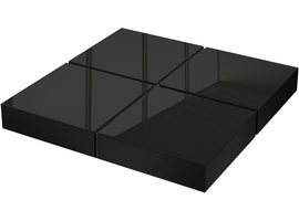 Modloft Dean Coffee Table in Glossy Black