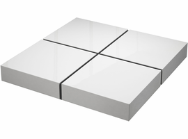 Modloft Dean Coffee Table in Glossy White