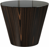 Modloft Dorset Side Table in Black Glass on Cathedral Ebony