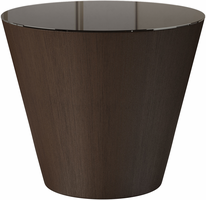 Modloft Dorset Side Table in Brown Glass on Brown Oak