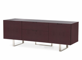 "Modloft MD211-WEN Eldridge 61"" Wide Wenge Media Cabinet"