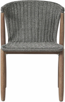 Modloft Embras Dining Chair in Shades of Gray Cord and Distressed Eucalyptus