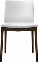 Modloft Enna Dining Chair in White on Canaletto Walnut