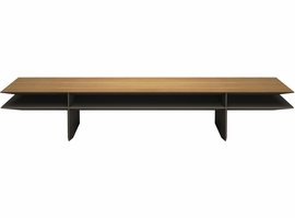 Modloft Kensington Coffee Table in Natural Oak on Bronze