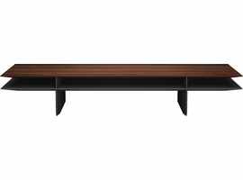 Modloft Kensington Coffee Table in Rosewood on Black