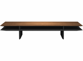 Modloft Kensington Coffee Table in Walnut on Graphite
