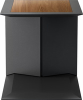 Modloft Kingston Side Table in Walnut on Graphite