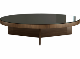 Modloft Longford Coffee Table in Walnut and Bronze