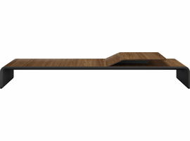 Modloft Millbank Coffee Table in Walnut on Graphite