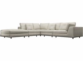 Modloft Perry 1 Right Arm Corner Sectional Sofa in Moonbeam