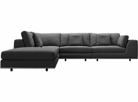 Modloft Perry 1 Right Arm Corner Sectional Sofa in Shadow Gray