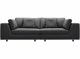 Modloft Perry Two Seat Sofa in Shadow Gray
