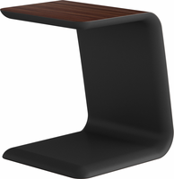 Modloft Upton Side Table in Rosewood on Black