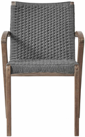 Modloft Verge Dining Chair in Shades of Gray Cord and Distressed Eucalyptus