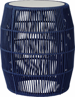 Modloft Volta Accent Table in Blue Cord