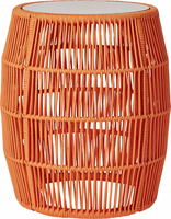 Modloft Volta Accent Table in Orange Cord
