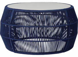 Modloft Volta Cocktail Table in Blue Cord