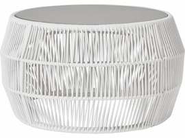 Modloft Volta Cocktail Table in White Cord